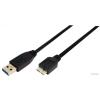LogiLink CU0028 USB 3.0 A-B microUSB adatkábel - 3m - fekete