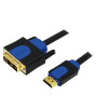 LogiLink HDMI-DVI kábel, HQ, 5 m