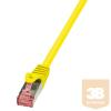LogiLink patch kábel, Cat.6 S/FTP PIMF PrimeLine 5,00m sárga