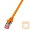 LogiLink patch kábel, Cat.6 S/FTP PIMF PrimeLine narancssárga 10m