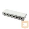 LogiLink - patch panel kat. 6A, 12-portos, árnyékolt STP, szürke