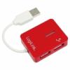 LogiLink Smile USB 2.0 4 portos hub piros