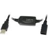 LogiLink USB 2.0 hosszabbító kábel fekete 25m