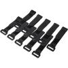 LogiLink Vezetékösszekötő szíj szett 10db 150x20mm, Fekete