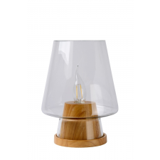 Lucide GLENN Table Lamp E14 D19 H25cm Clear Woo- 71543/01/72 világítás