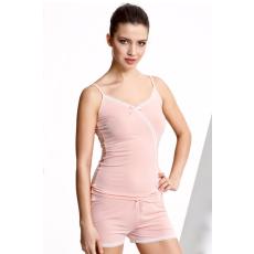 Luisa Moretti FELISA női pizsama bambuszból XL Lazac szín / Salmon