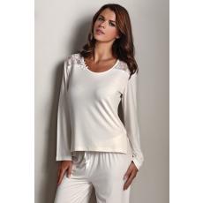 Luisa Moretti PAOLA női pizsama bambuszból M Krém szín / Cream