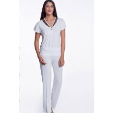 Luisa Moretti ZOE női pizsama bambuszból XL Krém szín / Cream