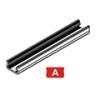 Lumines Alu profil eloxált (Type-A) LED szalaghoz, átlátszó