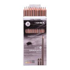 Lyra Grafitceruza LYRA Graduate 4H-6B hatszögletű környezetbarát 12 db/készlet ceruza