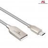 MACLEAN Maclean MCE190 Cable Micro USB metal silver Quick & Fast Charge