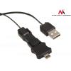 MACLEAN Maclean MCTV-730 USB-Iphone 5/micro 5p/mini adapter black retractable