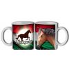 Magyar barna lovas bögre
