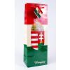 Magyar címeres piros-fehér-zöld italos dísztasak 124x76x362