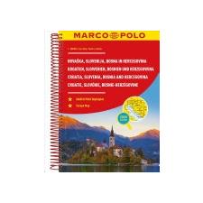 MAIRDUMONT GmbH & Co. KG Croatia, Slovenia, Bosnia and Hercegovina Marco Polo Road Atlas idegen nyelvű könyv