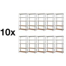 MAMUUT SHELVES AKCIÓS CSOMAG, 10 DARAB SALGÓ POLC 2000x900x500 mm horganyzott 5-polc, teherbírás 875 kg bútor