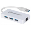 MANHATTAN Ethernet adapter, 3 port, USB 3.0, MANHATTAN