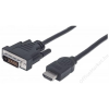 MANHATTAN HDMI - DVI-D kábel, 1 m, MANHATTAN (KMA372503)
