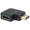 MANHATTAN HDMI - HDMI adapter, F/M, bal 90°, MANHATTAN