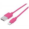 "MANHATTAN USB kábel, lightning, 1 m, MANHATTAN ""iLynk"", rózsaszín"