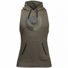 MANTI SLEEVELESS HOODIE - ARMY GREEN (ARMY GREEN) [XXXXL]