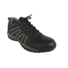 Manutan bőr tornacipő acél orrbetéttel, fekete/szÜrke, méret: 46