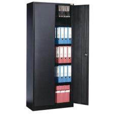 Manutan fém iratszekrény, 4 polccal, 180 x 92 x 42 cm, fekete irattartó