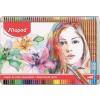 """MAPED Akvarell ceruza készlet, ecsettel, fém doboz,  """"Artists"""", 48 különböző szín"""