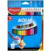 """MAPED Akvarell ceruza készlet, háromszögletű, ecsettel, MAPED \""""Color Peps\"""", 18 különböző szín [18 db]"""
