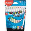MAPED Filctoll, ecset, MAPED Color Peps Brush, 10 különböző szín (IMA848010)