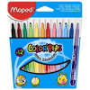 """MAPED Filctoll készlet, 1-5 mm, kimosható, MAPED """"Color`Peps"""", 12 különböző szín"""