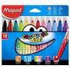 """MAPED Filctoll készlet, 1-6 mm, kimosható, vastag, MAPED """"Color'Peps Maxi"""", 12 különböző szín (IMA846020)"""