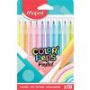 """MAPED Filctoll készlet, 2,8 mm, kimosható, MAPED """"Color'Peps Pastel"""", 10 különböző pasztell szín"""