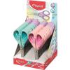 "MAPED Olló display, iskolai, 13 cm, MAPED ""Essentials Soft"", pastell"