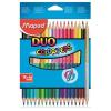 """MAPED Színes ceruza készlet, háromszögletű, kétvégű, MAPED """"Color`Peps Duo"""", 36 különböző szín"""