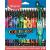 MAPED Színes ceruza készlet, háromszögletű, MAPED  Color Peps Monster  24 különböző szín