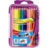 """MAPED Színes ceruza készlet, háromszögletű, MAPED """"Color\´Peps Smart box"""", 15 különböző szín"""