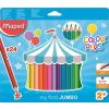 MAPED Színes ceruza készlet, háromszögletű, vastag, MAPED Jumbo, 24 különböző szín (IMA834013)