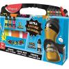 MAPED Tempera, palackos, 5x75 ml, ultra-washable, MAPED, fluoreszkáló + metál színek (IMA810012)