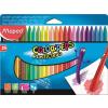 """MAPED Zsírkréta,  """"Color`Peps"""" PlastiClean, 24 különböző szín"""