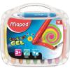 MAPED Zsírkréta, kitekerhető, MAPED  Color Peps GEL , 10 különböző szín