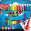 """MAPED Zsírkréta, MAPED """"Color'Peps"""" PlastiClean, 18 különböző szín"""