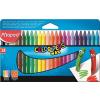 """MAPED Zsírkréta, MAPED """"Color\´Peps"""", Wax, 24 különböző szín"""