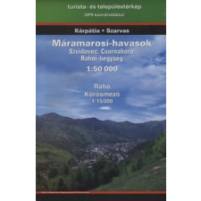 Máramarosi-havasok turistatérkép térkép