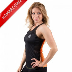 MARIANNA TANK TOP - BLACK/NEON ORANGE (BLACK/ORANGE) [S]