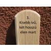 Mátra 80 cm-es tölgy kerítéselem 3. profil felületkezelve mahagóni színre