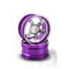 Matrixline Hliníkový disk 5 paprsků, offset 9 mm - fialová barva (2 ks)