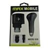 MAX MOBILE micro USB 3 in 1 töltő szett