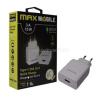MAX MOBILE QC 3.0 3A univerzális USB fehér hálózati gyorstöltő Type-C USB kábellel (3858892514054)