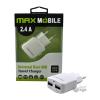 MAX MOBILE TR-067 2.4A fekete duó USB hálózati töltő